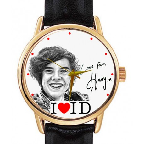 Vintage One Direction 1D Harry Style Signed Original Art Collectible Wrist Watch