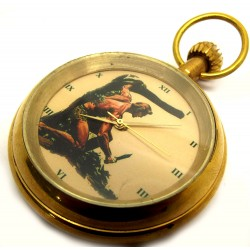 Korak, Son of Tarzan, Vintage Comic Art 17 Jewels Swiss Collectible Pocket Watch