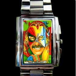Classic Stan Lee Tribute Wrist Watch for the Real Golden Age Comic Art Enthusiast