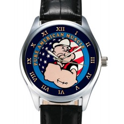 Popeye the Sailor Man, All American Muscle, Collectible Comic Art Wrist Watch