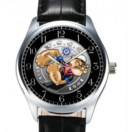 Popeye the Sailor Man, COAST GUARD, Collectible Comic Art Wrist Watch