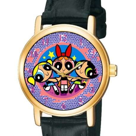 Vintage Power Puff Girls - Collectible Girls Manga Wrist Watch