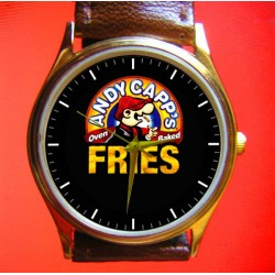 ANDY CAPP - French Fries! Vintage Comic Art Wrist Watch