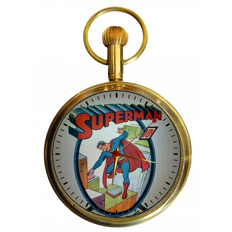 Superman - First Issue Cover Art Swiss 17 Jewels Pocket Watch