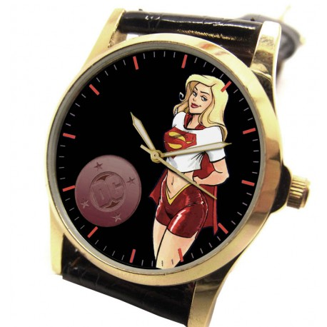 Supergirl! - Vintage Solid Brass Inspirational Comic Art Girls' Wrist Watch