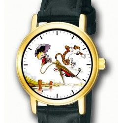 Calvin & Hobbes - The Usual Insanity! Nostalgic Bill Waterson Art Collectible Wrist Watch
