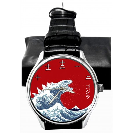 Godzilla Fantastic Vintage Japanese Print Kanji Dial Collectible Wrist Watch. ゴジラ腕時計