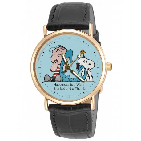 PEANUTS: Rare Linus & His Blanket Sky Blue Unisex Wrist Watch