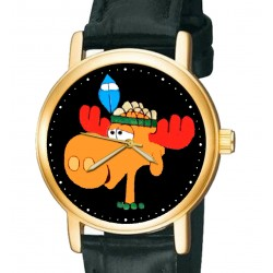 Vintage Rocky And Bullwinkle 30 mm Unisex Collectible Comic Art Wrist Watch