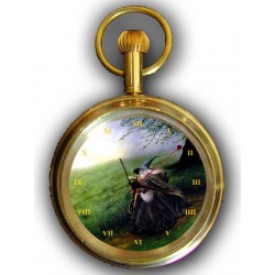 Gandalf the Wizard, Lord of the Rings, Pocket Watch. Original Art, Solid Brass
