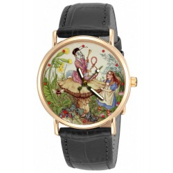 """The Caterpillar"" Alice in Wonderland Lewis Carroll Original Art Collectible Wrist Watch"