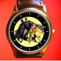Batman é Robin - Rare Golden Age Collectible Solid Brass Wrist Watch