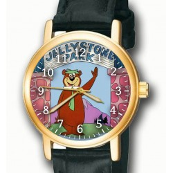 Yogi Bear Vintage Yellowstone Park Comic Art Solid Brass Collectible Wrist Watch
