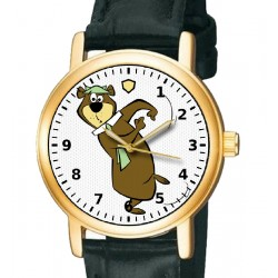 Yogi Bear Vintage Comic Art Collectible Solid Brass Wrist Watch