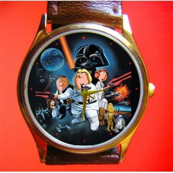 The Family Guys vs Star Wars 30 mm Solid Brass Collectible Wrist Watch