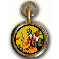 Buck Rogers Vintage Golden Age Comic Art Solid Brass Pocket Watch
