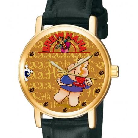 ZIGGY -The Coffee Lover! Collectible Comic Art Wrist Watch