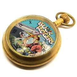 BUCK ROGERS - Space Cowboy Vintage Art Solid Brass Pocket Watch