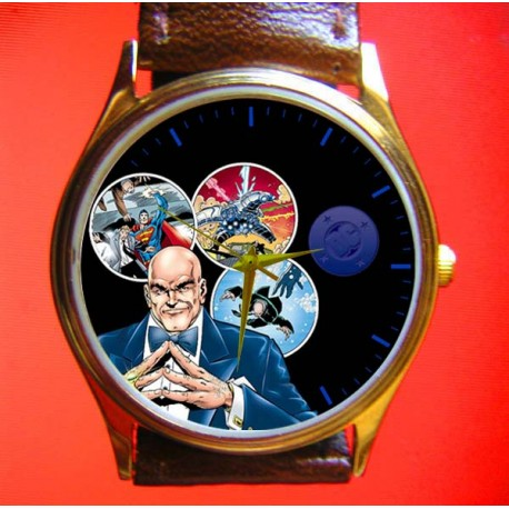 Superman Series - Lex Luthor Supervillain Collectible Comic Art Wrist Watch