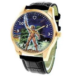 He Man and the Masters of the Universe Vintage Art Brass Wrist Watch