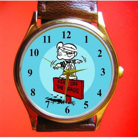 Vintage Dennis the Menace Comic Art Wrist Watch Collectible
