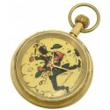 Tintin Professor Calculus Savate! Pocket Watch. Solid Brass, 17 Jewels Mechanical Movement