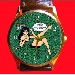 """Archie - Veronica """"Green is Better than Blonde"""" Original Art Wrist Watch!"""