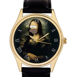 "Homer Simpson v/s Edvard Munch Scream ""Existentialist Crisis"" Comic Art Wrist Watch"