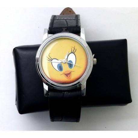 Looney Tunes Tweety Bird Vintage Art Solid Brass Wrist Watch