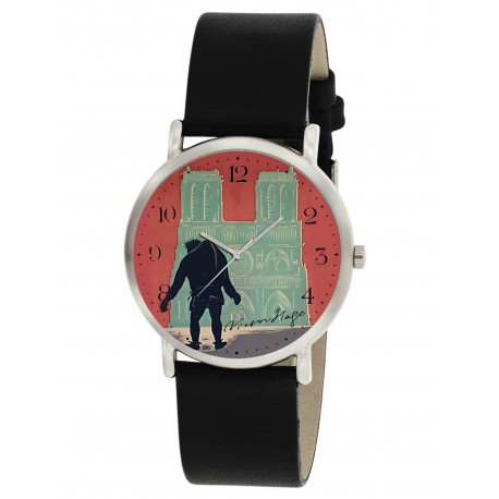 GOTHIC HUNCHBACK OF NOTRE DAME WRIST WATCH ORIGINAL LITHOGRAPH VICTOR HUGO DIAL