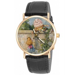Alice in Wonderland Colorful Humpty Dumpty Vintage Lewis Carroll Art Collectible Wrist Watch