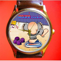 ZIGGY -The Weight Watchers Comic Art Wrist Watch