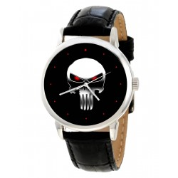 The Punisher, Classic Skull Art Collectible Comic Art Wrist Watch