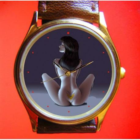 Vampirella Original Erotic Comic Art 30 mm Collectible Wrist Watch