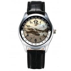 """WW-II Luftwaffe Messerschmitt Me-262 """"SCHWALBE"""" Early Fighter Jet Wrist Watch"""