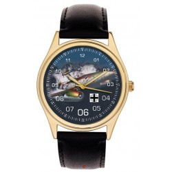 "Me-262 Messerschmitt ""Schwalbe"" Luftwaffe WW-II Germany Kitsch Art 40 mm Wrist Watch"