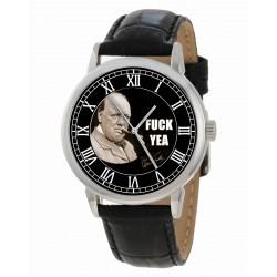 Fcuk Yea! Classic Winston Churchill WW-II Wartime British Art Collectible Watch