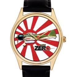 Imperial Nippon Air Force Japanese Mitsubishi A6M Zero Fighter Aviation Art 40 mm Wrist Watch. 第二次世界大戦航空シリーズ。 40ミリメートル零戦神風腕時計。 …