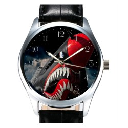 Wicked Shark Teeth SPITFIRE RAF WW-II Contemporary Art Collectible Wrist Watch