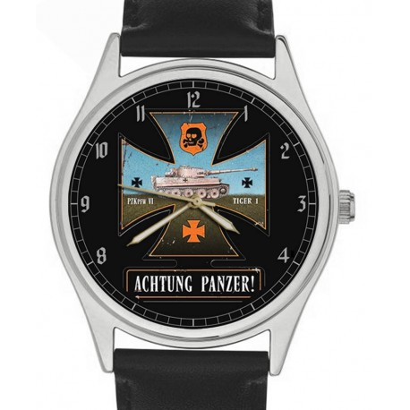 Achtung Panzer! Prussian Blue WW-II Germany Wehrmacht Art Collectible Wrist Watch