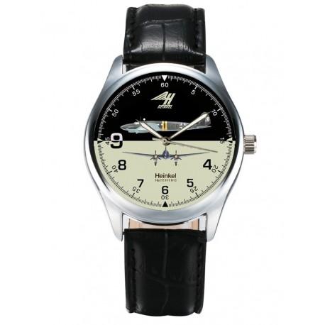 Heinkel H-111 Luftwaffe Bomber Aviation Art Collectible Wrist Watch