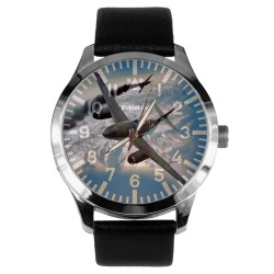 "Me-262 Messerschmitt ""Schwalbe"" Luftwaffe WW-II Germany Commemorative Art 40 mm Wrist Watch"