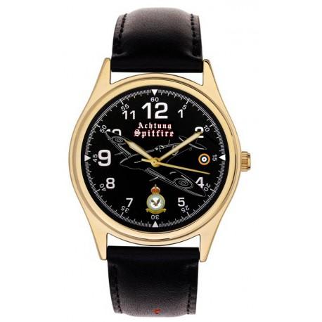 Achtung Spitfire!!! RAF WW-II Fighter Aircraft Art Collector's Wrist Watch