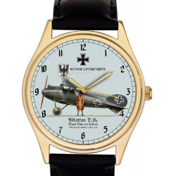 Vintage D.III Albatros Biplane Luftstreitkräfte Germany WW-I Aviation Art 40 mm Solid Brass Wrist Watch