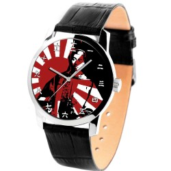 Emperor Hirohito 昭和天皇 Nippon Nationalism WW-II Symbolic Crimson Art Collectible Wrist Watch
