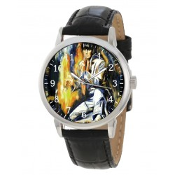Elvis Presley Impressionist Pop Art Collectible 40 mm Chromed Brass Wrist Watch