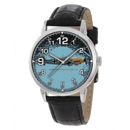 Bf-109 Messerschmitt Me-109 Luftwaffe WW-II Germany Silhouette Art 40 mm Wrist Watch
