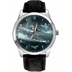 Luftwaffe FW-190 FOCKE WULF WW-II Germany Commemorative Art Wrist Watch