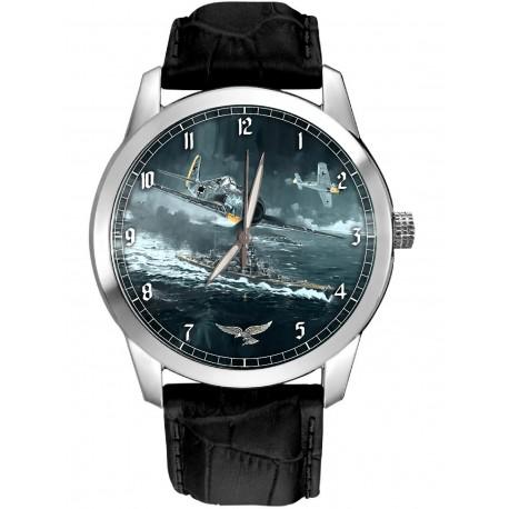 Luftwaffe FW-190 FOCKE WULF WW-II Germany Commemorative Compass Dial Art 40 mm Wrist Watch
