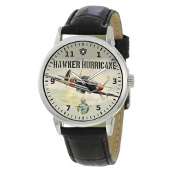 Hawker Hurricane RAF WW-II Aviation Battle Of Britain Art Solid Brass 40 mm Wrist Watch